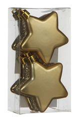 Набор елочных игрушек 6шт 6.5см House of Seasons Звезда золотой