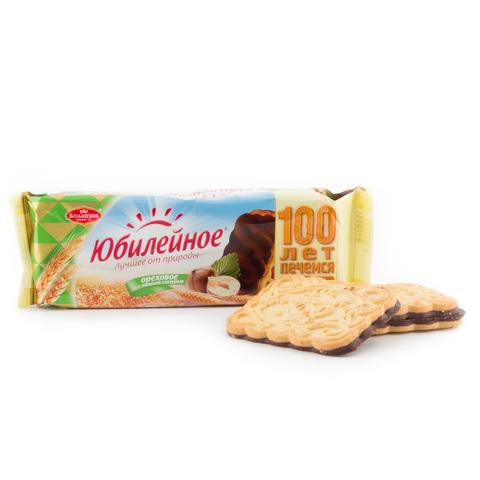 """Печенье """"Юбилейное"""" ореховое с глазурью, 116 г"""