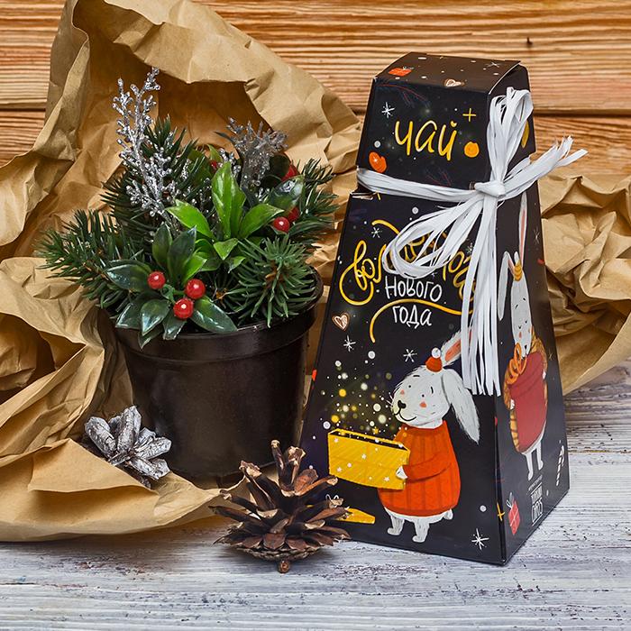 Купить подарочный чай с шоколадом на Новый год в Перми
