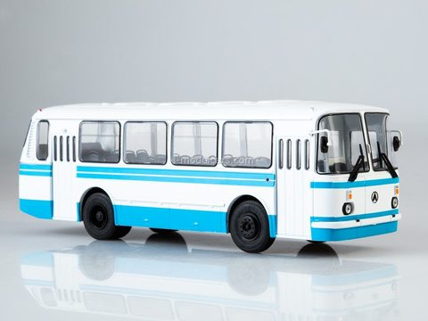 LAZ-695N white-blue 1:43 Modimio Our Buses #1