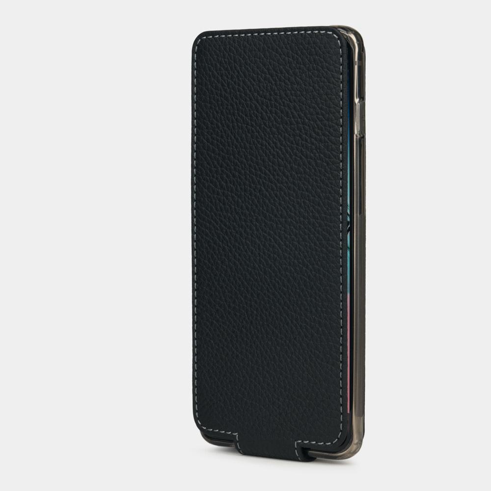 Чехол для Samsung Galaxy S10 из натуральной кожи теленка, цвета черный мат