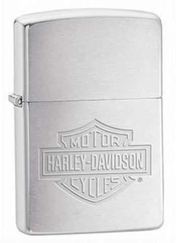 Зажигалка Zippo Harley-Davidson, с покрытием Brushed Chrome, латунь/сталь, серебристая, 36x12x56 мм123
