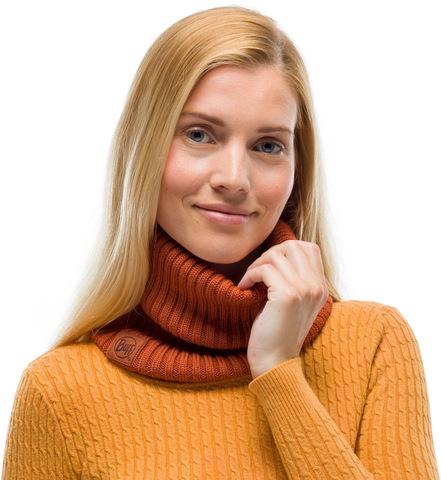 Модный шарф-труба Buff Neckwarmer Knitted Comfort Norval Rusty фото 1