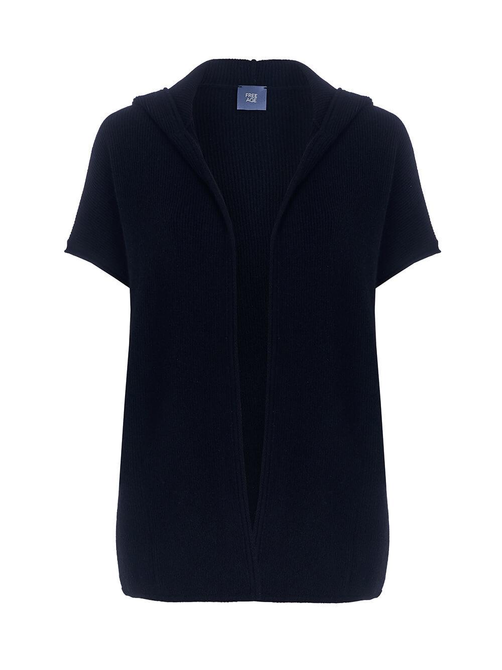 Женский жилет черного цвета из 100% кашемира - фото 1