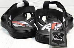 Летние сандалии босоножки без задника мужские Nike 40-3 Leather Black.