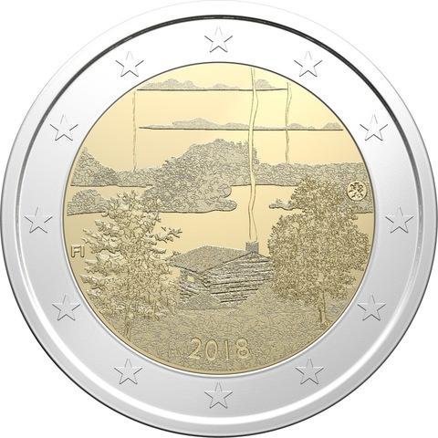 """2 евро """"Культура финской сауны"""" 2018 - Финляндия"""