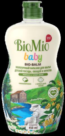 SPLAT BIOMIO Bio-balm моющее средство для детской посуды ромашка иланг-иланг 450 мл