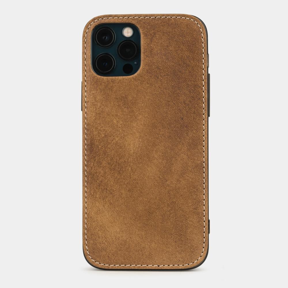 Чехол-накладка для iPhone 12/12Pro из натуральной кожи теленка, цвета винтаж