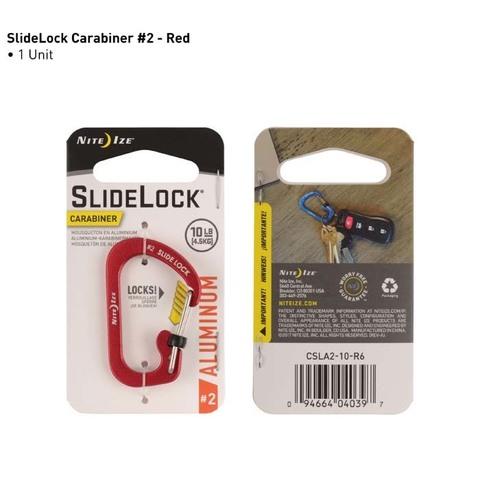 Карабин с блокировкой Nite Ize SlideLock Carabiner Aluminum, размер 2 красный