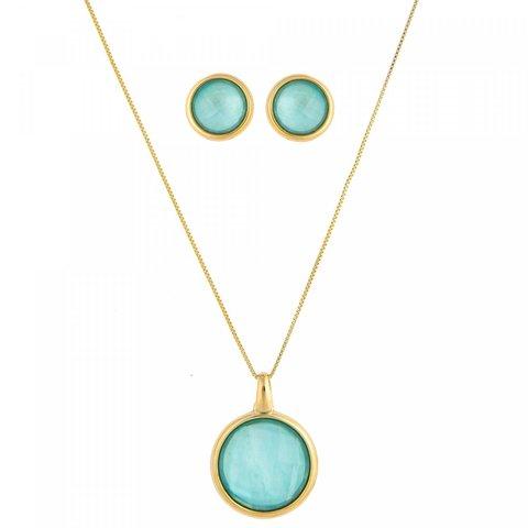 Комплект pearl blue sky agate S9506.21 B/G