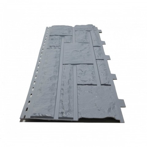 Фасадные панели (Цокольный Сайдинг) Доломит NEW Серо-голубой