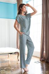 Пижама с коротким рукавом Mia-Mia синий