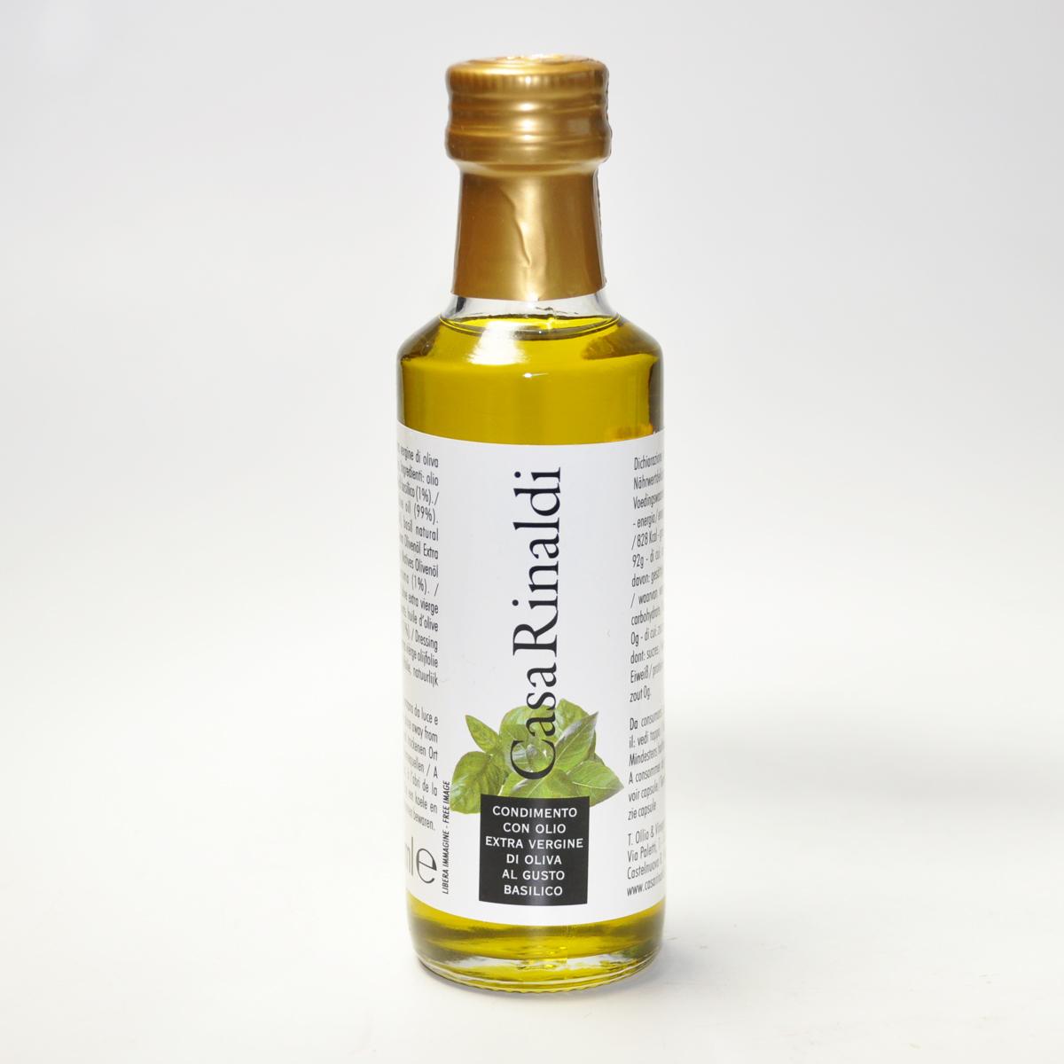 Масло оливковое EV  с базиликом