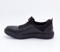Черные кожаные полуботинки