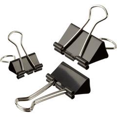 Зажимы для бумаг Attache 19/25/32 мм черные (10 штук в упаковке)