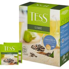 Чай Tess Lime Citrus peels зеленый с лаймом 100 пакетиков
