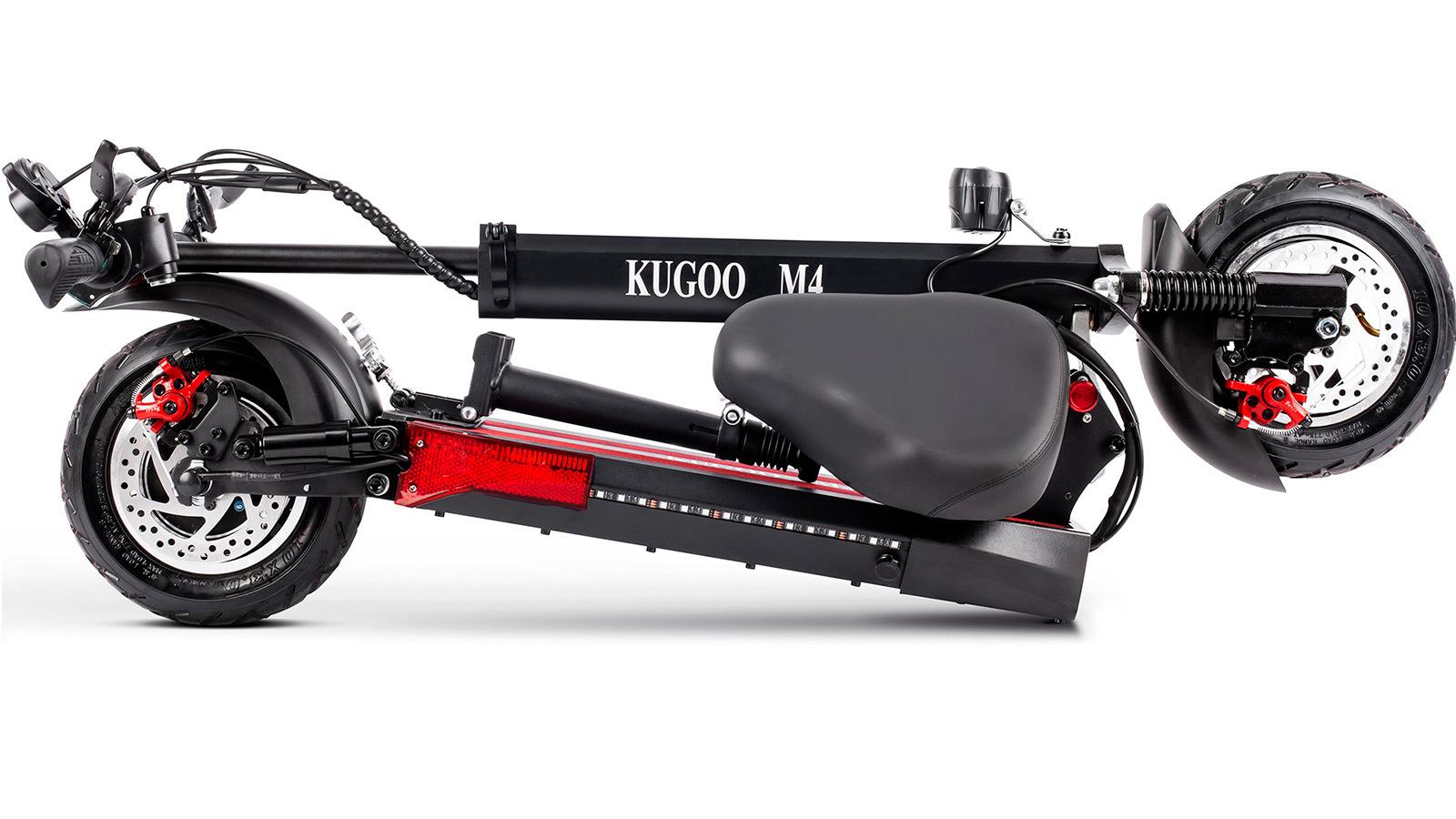 электросамокат Kugoo M4 Pro 18 Ah в сложенном виде