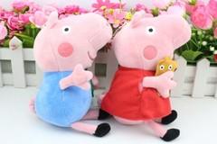 Розовая Свинка брат и сестра мягкие игрушки