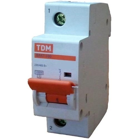 Авт. выкл. ВА47-100 1Р 50А 10кА  х-ка С TDM