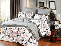 Сатиновое постельное бельё  2 спальное  В-116