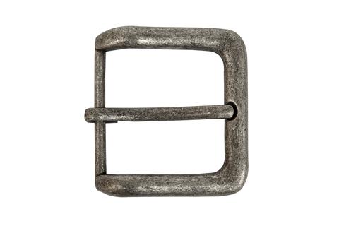 Пряжка для ремней 39 мм - состаренное серебро, матовое