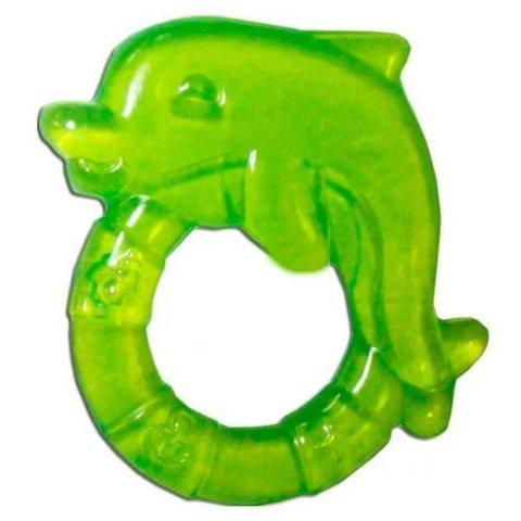 Прорезыватель водный охлаждающий - дельфин, 0+ (2/221) (зеленый)