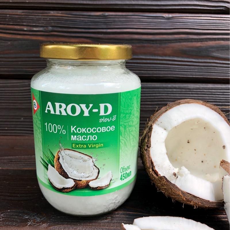 Фотография Кокосовое масло (extra virgin) AROY-D, 450 мл. купить в магазине Афлора