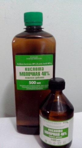 Молочная кислота 100мл, 500мл