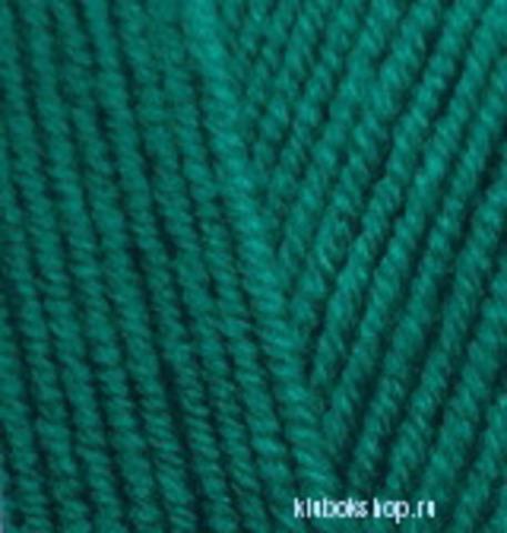 Пряжа Lanagold (Alize) 507 Античный зеленый, фото