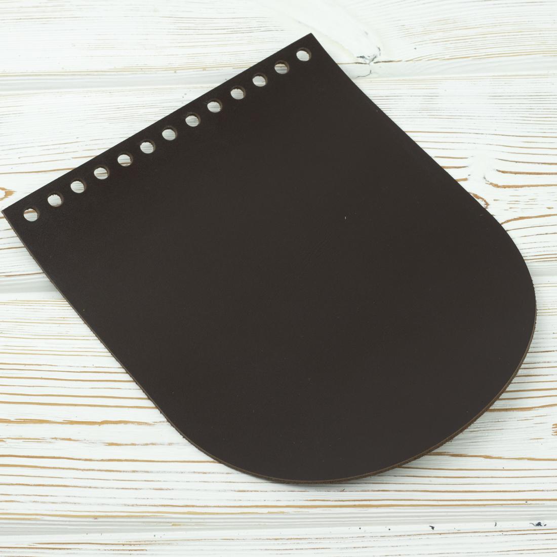 """Вся фурнитура Клапан для сумочки кожаный """"Темно-коричневый"""" 19,5*15,5 см IMG_5972.jpg"""