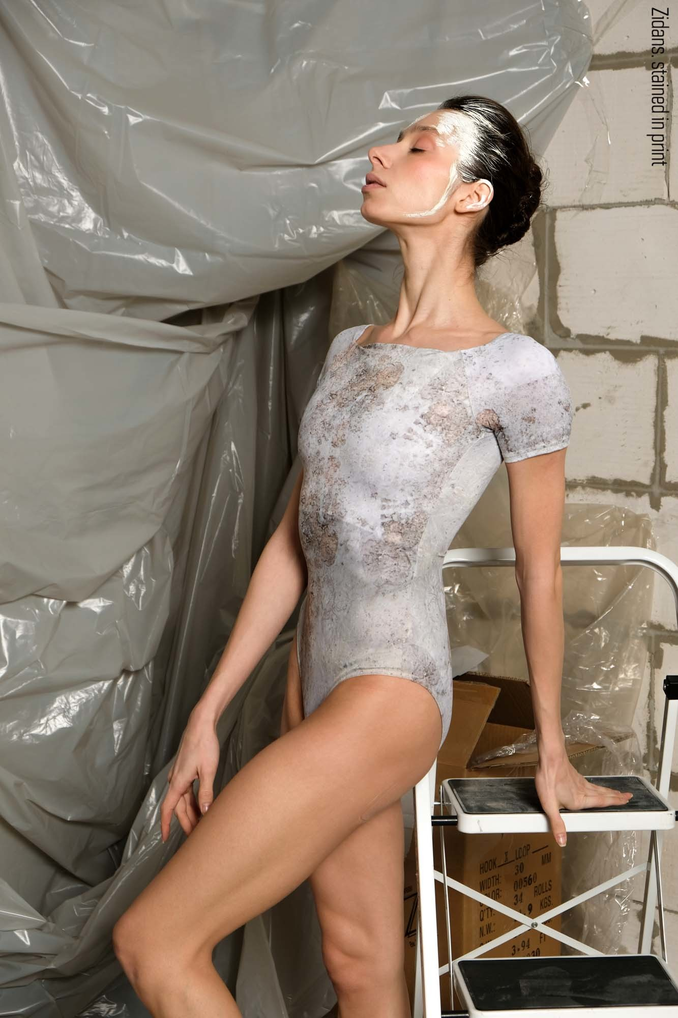 T-leotard, stained in print | delicate_dirt