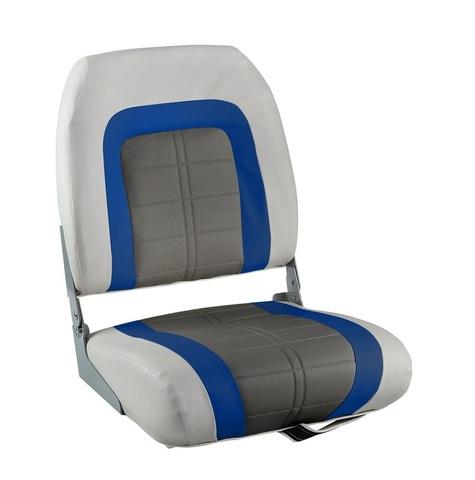 Сиденье мягкое Special High Back Seat, серо-синее