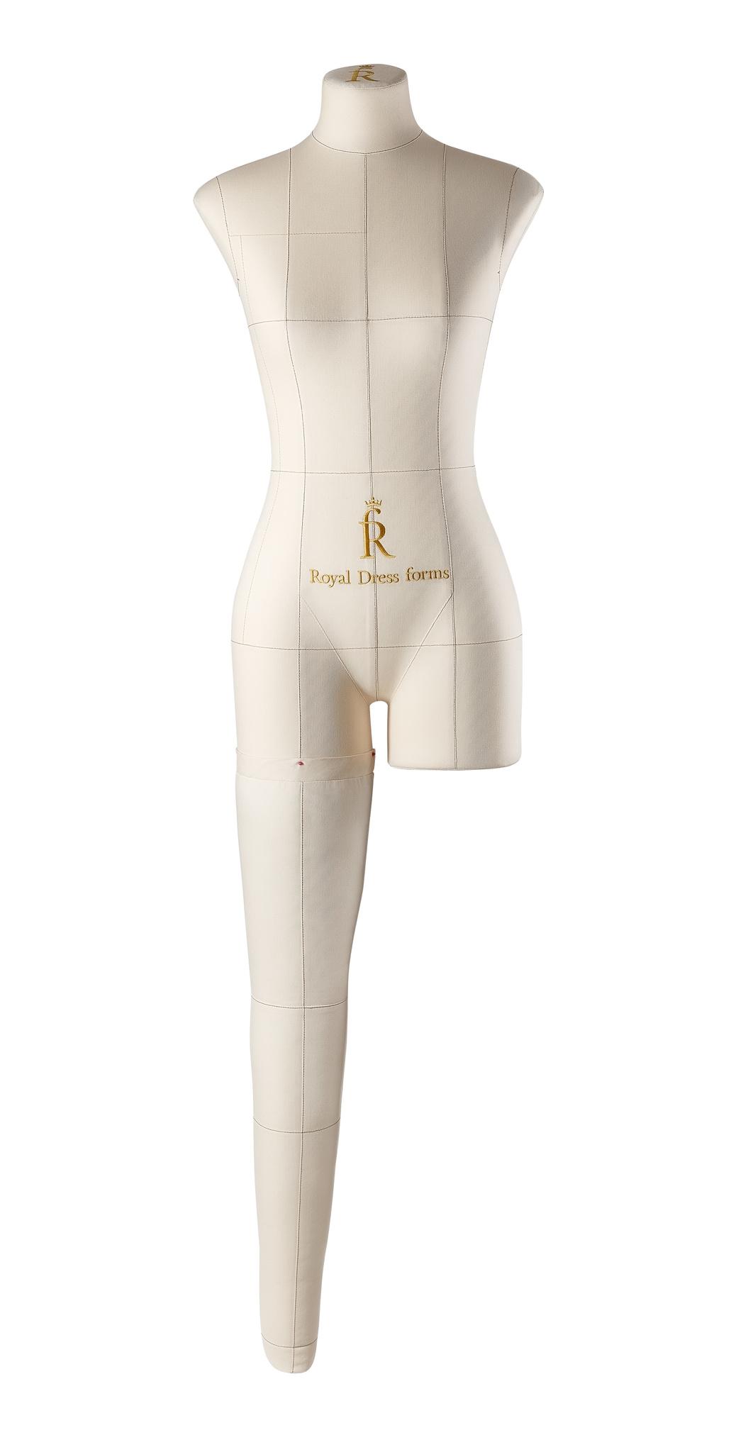 Нога бежевая для манекена Моника, 40 размер