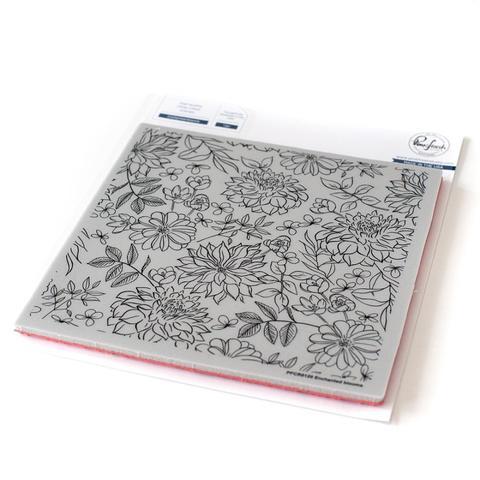 Штамп Pinkfresh Studio Cling Rubber Stamp Set -15х15 см-  Enchanted Blooms