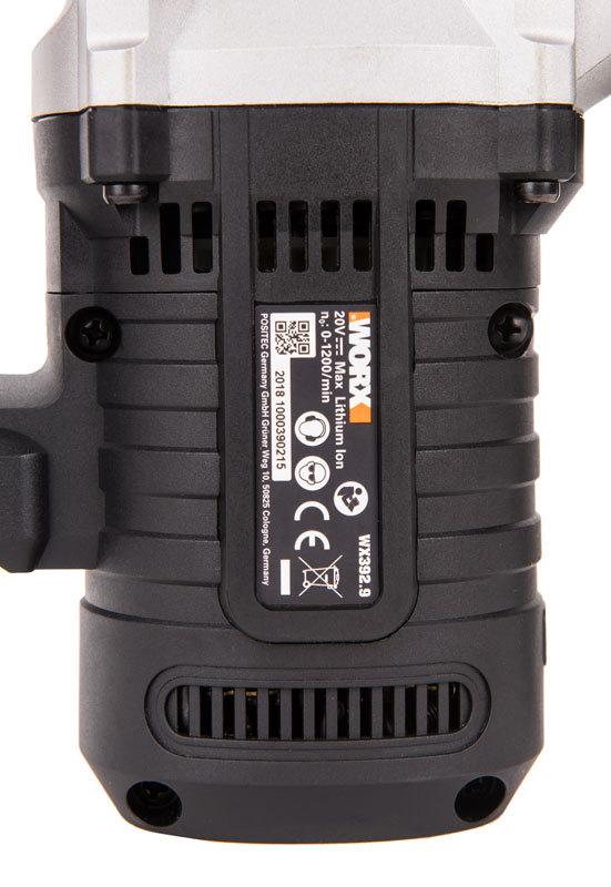 Перфоратор аккумуляторный WORX WX392.9 20В