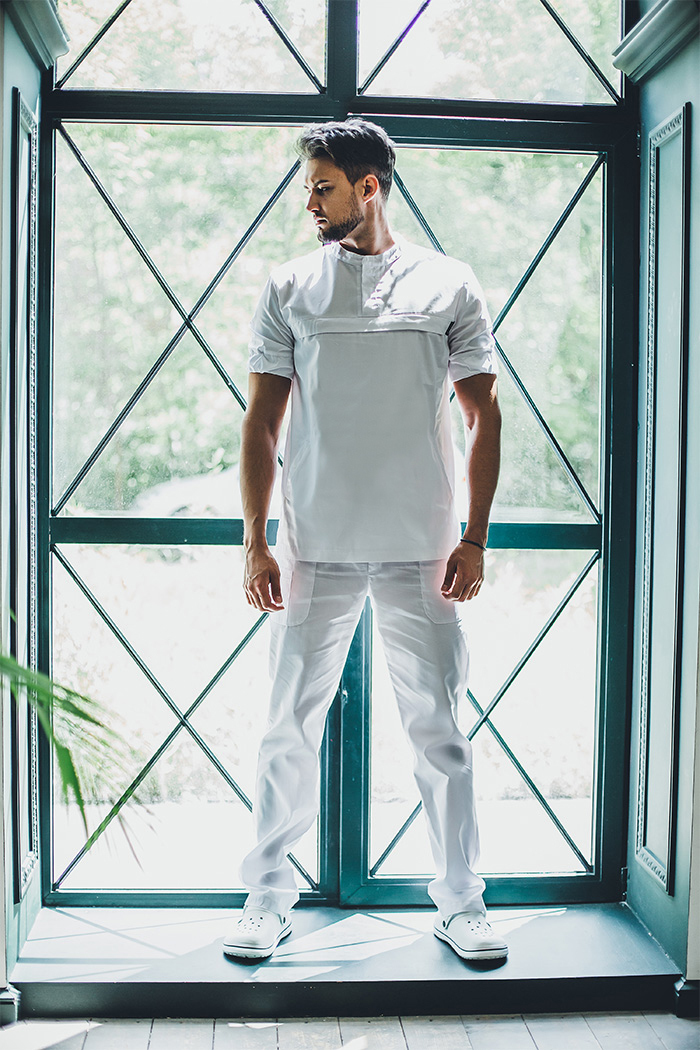 Блуза медицинская мужская М419