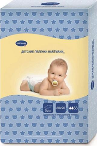 Hartmann. Пеленки впитывающие 60х90 см, 1уп/5 шт. Фото1