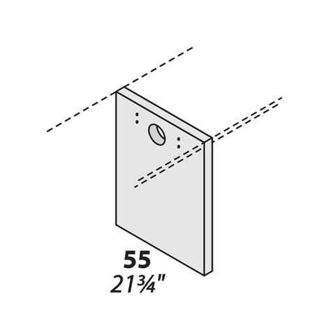 Опора для двух столешниц центральная (дсп) 550 мм LOGIC