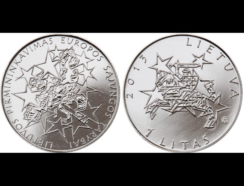 """1 лит """"Председательство Литвы в Совете Европейского союза"""" 2013"""