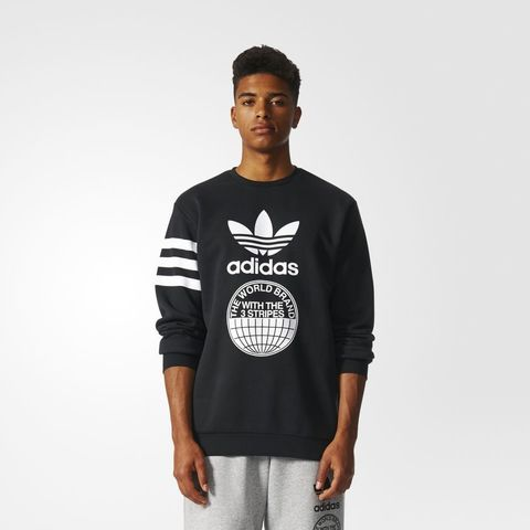 Свитшот мужской adidas ORIGINALS STREET GRAPHIC CREW