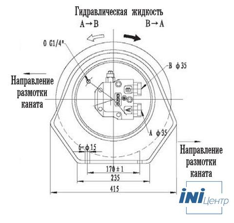 Стандартная лебедка IYJ3А-35-55-14-ZP