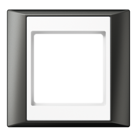 Рамка на 1 пост. Цвет Антрацит-белый. JUNG A PLUS. AP581ANTWW