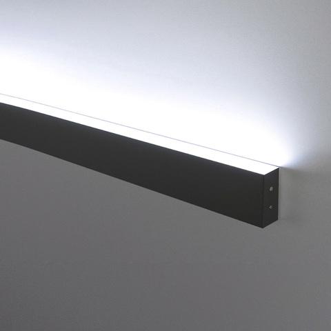 Линейный светодиодный накладной односторонний светильник 53см 10Вт 6500К черная шагрень 101-100-30-53