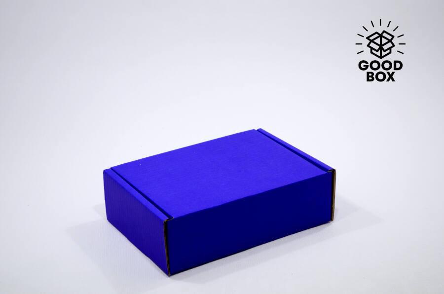 Синяя крафт коробка купить в Алматы с доставкой