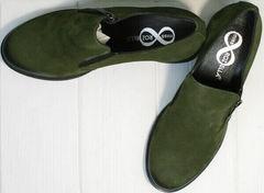 Модные осенние туфли на небольшом каблуке женские Miss Rozella 503-08 Khaki.