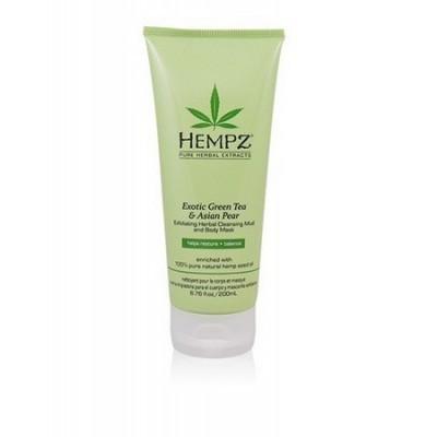 Hempz - Уход для тела: Маска-глина для тела растительная отшелушивающая (Exotic Green Tea & Asian Pear. Exfoliating Herbal Cleansing Mud and Body Mask), 200мл
