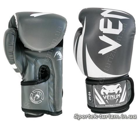 Перчатки для боксу та кікбоксингу на липучці VENUM 10 oz (BO-8352-O)