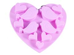 "6546 FISSMAN Форма для льда и шоколада ""Птицы и сердечки"" 15x4,5x1,5 см"