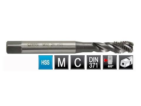 Метчик М3х0,5 (Машинный, спиральный) DIN371 2N(6h) C/2,5P HSS L=56мм Bucovice(CzTool) 103030
