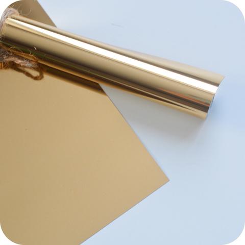 Термотрансферная пленка металлик (с эффектом фольгирования) золото  25х25 см